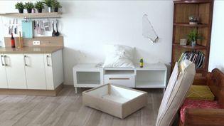 Le propriétaire d'une petite maison de Floirac, près de Bordeaux (Gironde) a retrouvé son logement saccagé et pillé après l'avoir loué à deux jeunes filles sur la plateforme Airbnb.  (CAPTURE ECRAN FRANCE 3)
