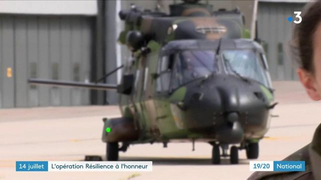 Cérémonies du 14 juillet : les militaires de l'opération Résilience à l'honneur
