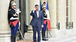 Le ministre allemand des Affaires étrangères Sigmar Gabriel, le 30 août 2017, à l'Elysée (PAris). (ALAIN JOCARD / AFP)