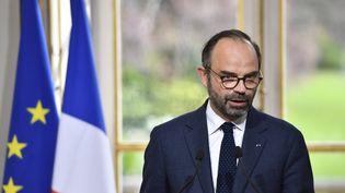 Le Premier ministre Édouard Philippe a présenté mercredi 4 avril le projet de réforme des institutions. (GERARD JULIEN / AFP)