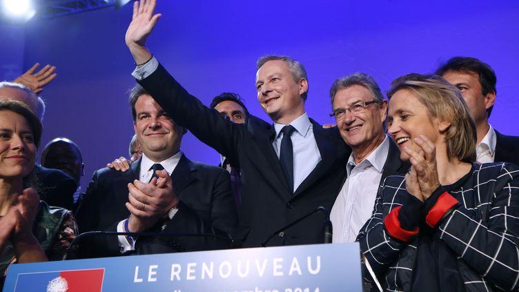 Bruno Le Maire, après l'annonce des résultats pour le présidence de l'UMP, le 29 novembre 2014. (THOMAS SAMSON / AFP)