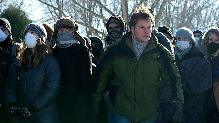 "Matt Damon dans une scène du film ""Contagion"", de Steven Soderbergh, sorti en 2011. (WARNER BROS. FRANCE)"