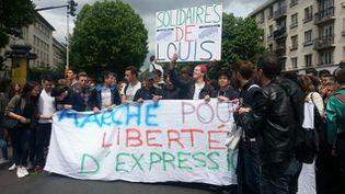 (Des centaines de lycées se mobilisent pour la liberté d'expression © RadioFrance)