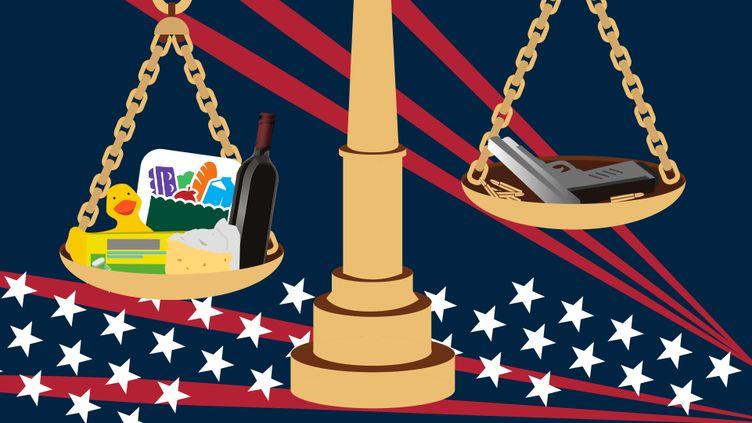 Arme à feu, sextoy, camembert : qu'est-il plus facile d'acheter aux Etats-Unis ? (BAPTISTE BOYER / FRANCE INFO)