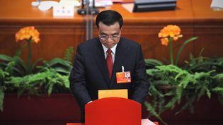 Le nouveau Premier ministre chinois, Li Keqiang, le 15 mars 2013, à Pékin (Chine). (WANG ZHAO / AFP)