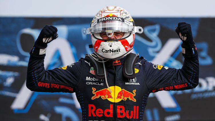 Max Verstappen remporte le Grand Prix d'Emilie Romagne, dimanche 18 avril 2021. (FLORENT GOODEN / DPPI MEDIA)