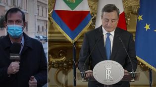Alban Mikoczy - Mario Draghi. (Capture d'écran franceinfo)