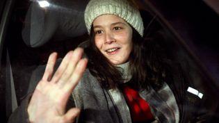Yldune Lévy, compagne de Julien Coupat, lors de sa libération, le 16 janvier 2009. (JOEL SAGET / AFP)