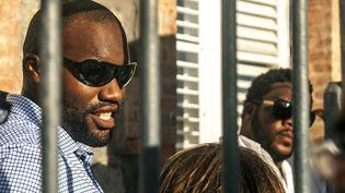 L'ex-otage Thierry Dol, au moment de son retour en Martinique, le 9 novembre 2013. (NICOLAS DERNE / AFP)