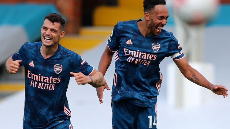 Pierre-Emerick Aubameyang et Arsenal peuvent sourire (CLIVE ROSE / POOL)