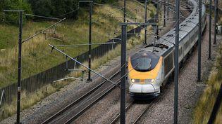 Un train Eurostar dans le Kent, en Angleterre,le 25 août 2015. (BEN STANSALL / AFP)
