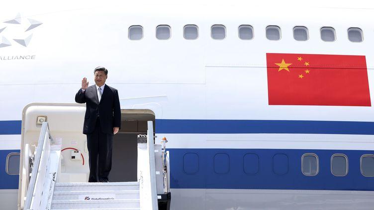 Le numéro un chinois, Xi Jinping, le 15 octobre 2016 à Goa (Inde). (XINHUA / SIPA)