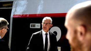 Le patron de la SNCF, Guillaume Pepy, le 22 mai 2017 à Lille. (MAXPPP)