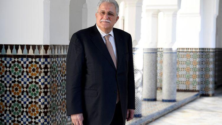 Le recteur de la Grande mosquée de Paris, Chems-eddine Hafiz, pose le 16 janvier 2020. (BERTRAND GUAY / AFP)