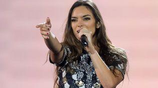 Alma, le 10 mai 2017, lors des répétitions de l'Eurovision, à Kiev (Ukraine). (EFREM LUKATSKY/AP/SIPA)