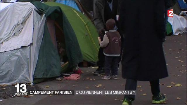 Campement de Paris : d'ou viennent les migrants ?