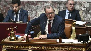 Le président de l'Assemblée nationale, Richard Ferrand, lors des questions au gouvernement, le 23 juillet 2019. (STEPHANE DE SAKUTIN / AFP)