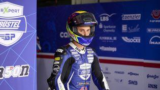 Le pilote suisse Jason Dupasquier,lors de la course de Doha Moto 3 sur le circuit de Losail du 2 au 4 avril 2021, à Doha. (GIGI SOLDANO / STUDIO MILAGRO)