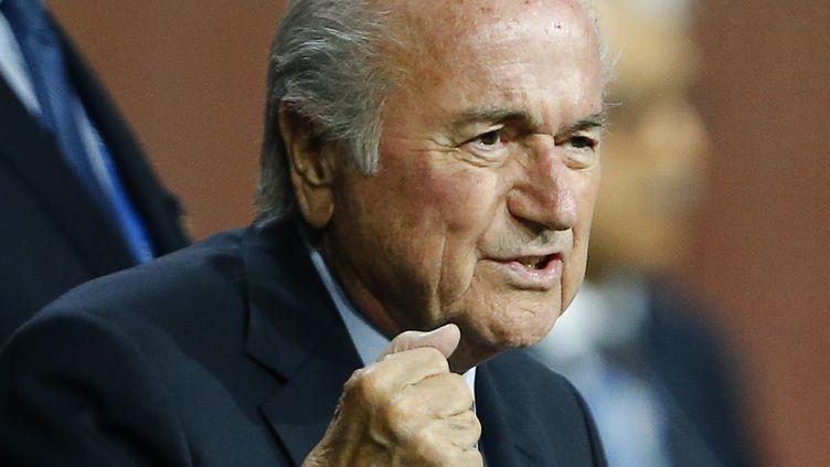 Le président de la Fifa Sepp Blatter, le 29 mai 2015 à Zurich (Suisse). (ARND WIEGMANN / REUTERS)