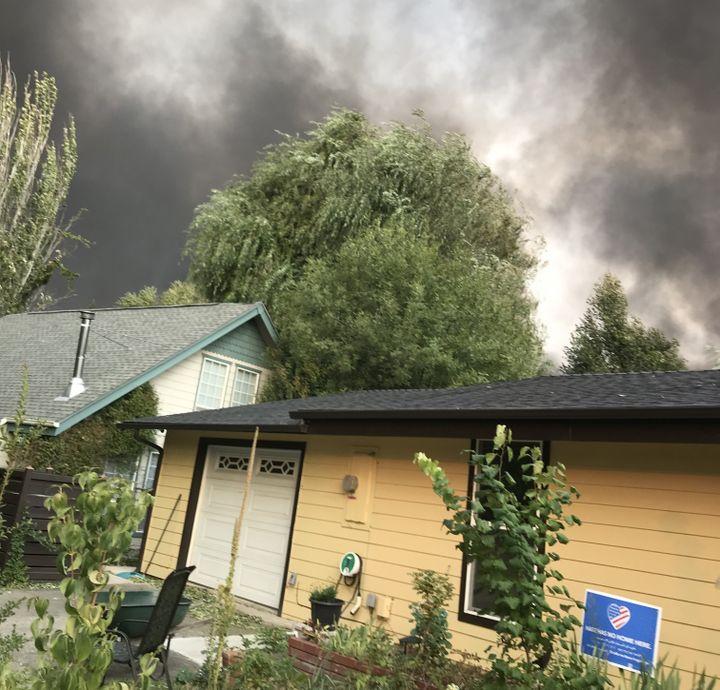 La maison de Fredric et Carol à Talent,le 8 septembre 2020, avant quel'incendie nefrappe la petite ville de l'Oregon. (FRANCEINFO)