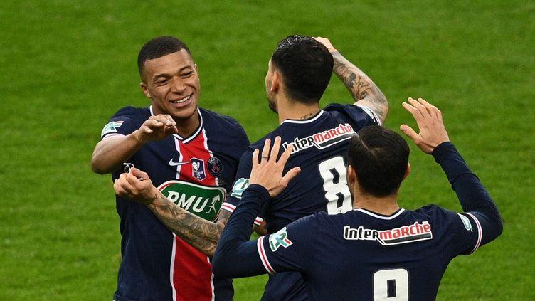 Le PSG a remporté sa quatorzième Coupe de France face à l'AS Monaco mercredi 19 mai. (ANNE-CHRISTINE POUJOULAT / AFP)