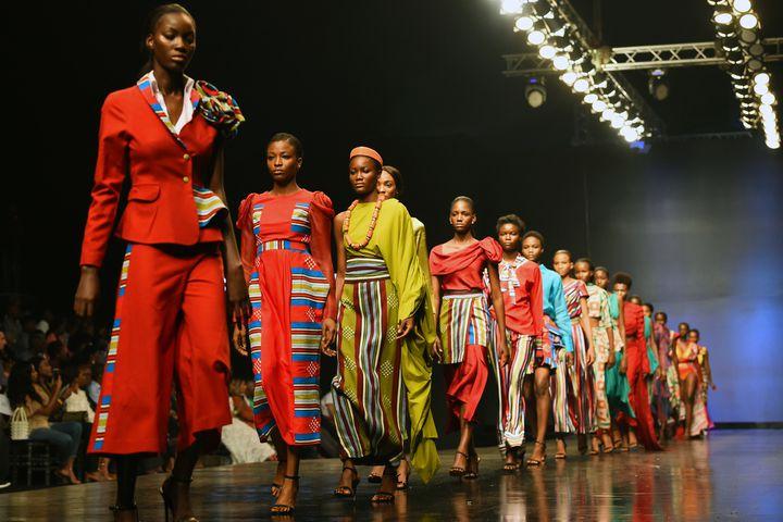Cynthia Abila à la Lagos Fashion Week, octobre 2018  (PIUS UTOMI EKPEI / AFP)