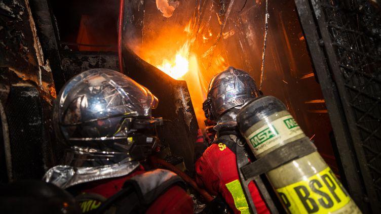150 pompiers ont été mobilisés sur l'incendie de Vincennes (Val-de-Marne), le 11 août 2020. (SAPEURS-POMPIERS DE PARIS)