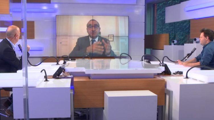 """Laurent Nuñez,coordinateur national du renseignement et de la lutte contre le terrorisme, ancien secrétaire d'Etat à l'Intérieur, était l'invité du """"8h30 franceinfo"""" dimanche 18 octobre 2020. (FRANCEINFO / RADIOFRANCE)"""