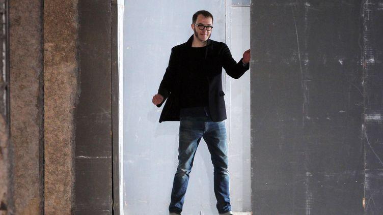 Marco Zanini en mars 2011 à Paris lors de la présentation de la collection Rochas automne-hiver 2011-2012  (Pierre Verdy /AFP)
