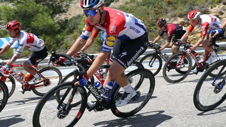 Fabio Jakobsen, avec son maillot de champion des Pays-Bas.  (BETTINI ROBERTO / BETTINIPHOTO)
