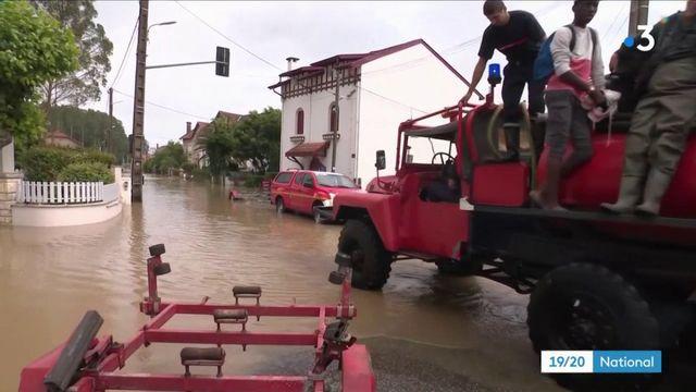 Intempéries dans les Landes : le village de Peyrehorade en partie évacué