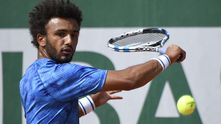 Le tennisman français Maxime Hamou, le 29 mai 2017 lors du tournoi de Roland-Garros. (ERIC FEFERBERG / AFP)