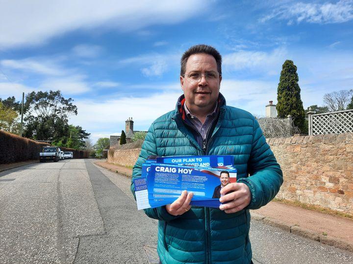 Craig Hoy est candidat le Conservateur dans la circonscription du East Lothian. (RICHARD PLACE / FRANCEINFO / RADIO FRANCE)