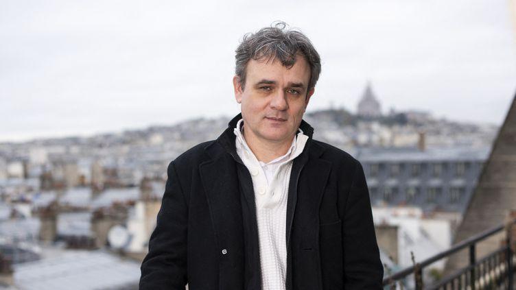 """Le directeur de la rédaction de """"Charlie Hebdo"""" Laurent Sourisseau, dit Riss, le 26 novembre 2019 à Paris. (STEVEN WASSENAAR / HANS LUCAS / AFP)"""