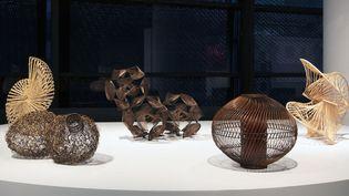 """Vue de l'exposition """"Fendre l'air, Art du bambou au Japon"""" au Musée du Quai Branly à Paris  (Gautier Deblonde / Musée du Quai Branly-Jacques Chirac)"""