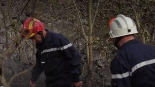 Des pompiers àSaint-Marcel-les-Annonay (Ardèche). (FRANCE 2)