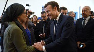 Le président de la République, Emmanuel Macron, le 14 novembre 2017 à Tourcoing (Nord). (FRANCOIS LO PRESTI / AFP)