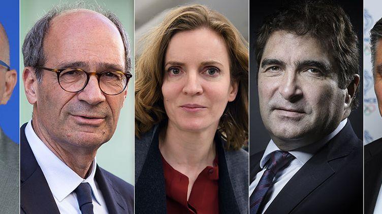 Eric Ciotti, Eric Woerth, Nathalie Kosciusko-Morizet, Christian Jacob et David Douillet. (AFP)