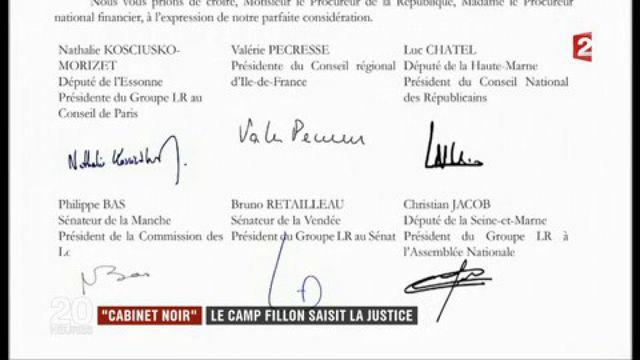 """""""Cabinet noir"""" : le camp Fillon saisit la justice"""
