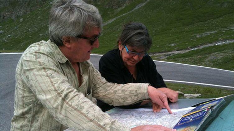 Jean-Maurice Ooghe en repérage dans les Alpes