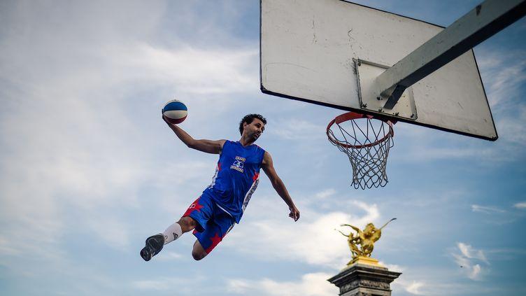 Le Paris Basket a présenté son projet (LUCAS BARIOULET / AFP)