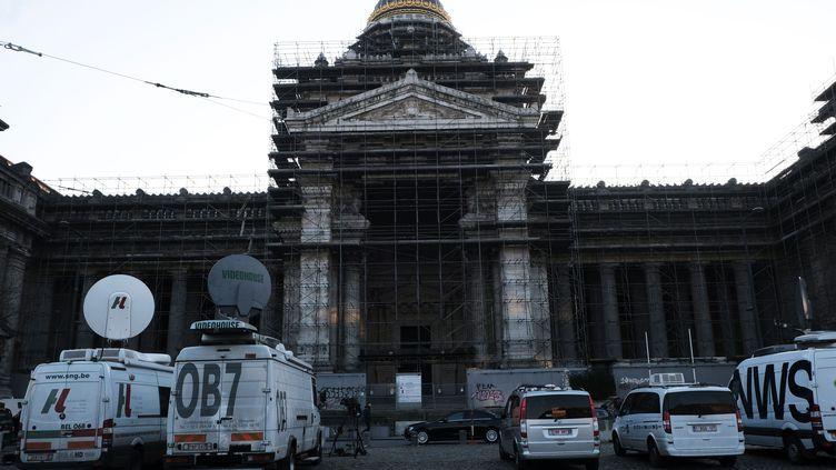 Le procès de Salah Abdeslam au palais de justice de Bruxelles (Belgique), le 5 février 2018. (ALEXANDROS MICHAILIDIS / SOOC / AFP)