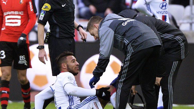 Corentin Tolisso est sorti blessé face à Rennes dimanche (STEPHANE GUIOCHON / MAXPPP)