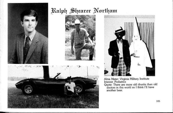 Image du yearbook de Ralph Northam. (Eastern Virginia Medical School yearbook)