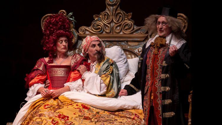 """""""Le Malade imaginaire"""" de Molière par la troupe Morboria Teatro au festival de théâtre d'Olite en Navarre, Espagne (1er août 2019) (VILLAR LOPEZ / EFE / NEWSCOM / MAXPPP)"""