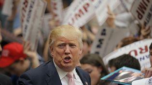 Le candidat républicain Donald Trump lors d'un meeting électoral à Radford, en Virginie (Etats-Unis), le 29 février 2016. (CHRIS KEANE / REUTERS)
