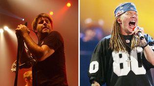 Le chanteur de LCD Soundsystem James Murphyet Axl Rose deGuns N' Roses.  (AFP)