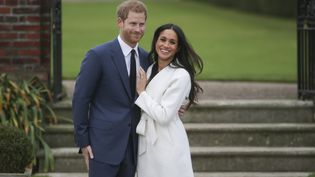 Le prince Harry et Megan Markle à Londres en novembre 2017. (DANIEL LEAL-OLIVAS / AFP)