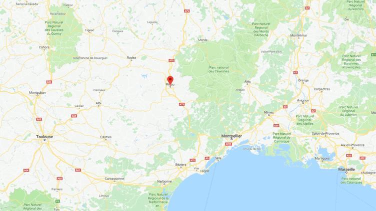 Carte de localisation deMillau. (GOOGLEMAPS)