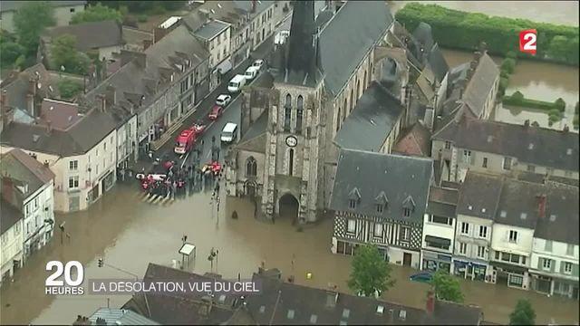 Inondations : la désolation vue du ciel